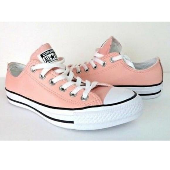 Nwt Converse Ctas Ox Vapor Pink Leather